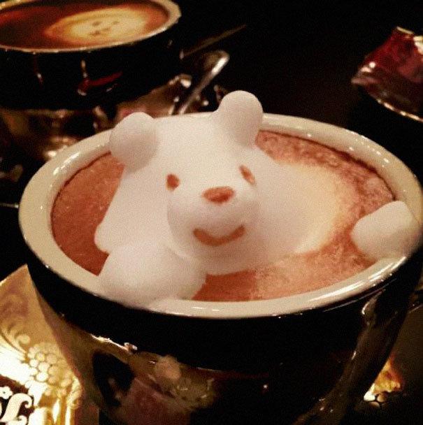Cappuccino em 3D